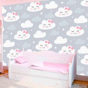 Papel pintado de nubes para decorar tu hogar