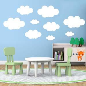 Vinilos de nubes perfectos para decorar tu hogar
